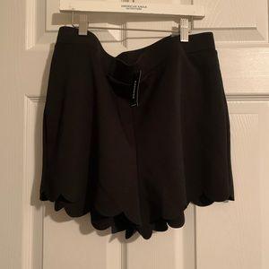 Express scalloped shorts.